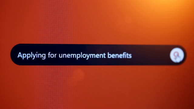 applying for unemployment benefits - unemployment application stock videos & royalty-free footage