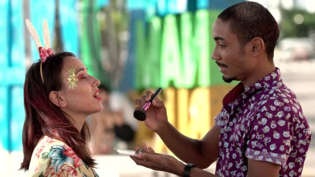 applying glitter on the skin - recife stock videos and b-roll footage