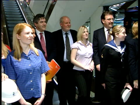 Apprenticeship scheme extended ITN Charles Clarke MP interview SOT Talks of motivating people from the age of 14 to learn and to get jobs MS Clarke...