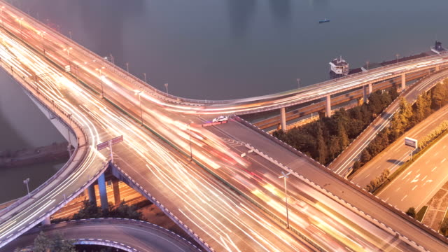 T/L WS Approach Bridge Day-to-Night / Chongqing, China