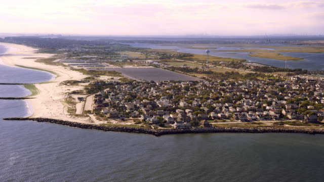 approach to long beach island, ny - long island video stock e b–roll