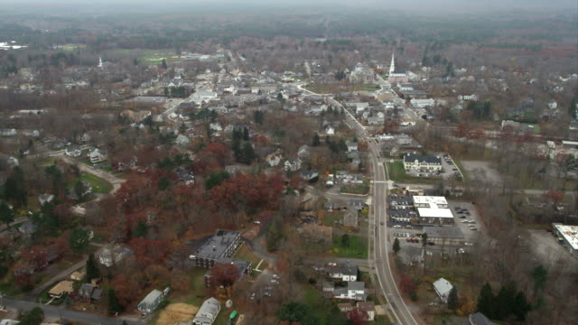 approaching a small town south of boston. shot in november 2011. - artbeats stock-videos und b-roll-filmmaterial