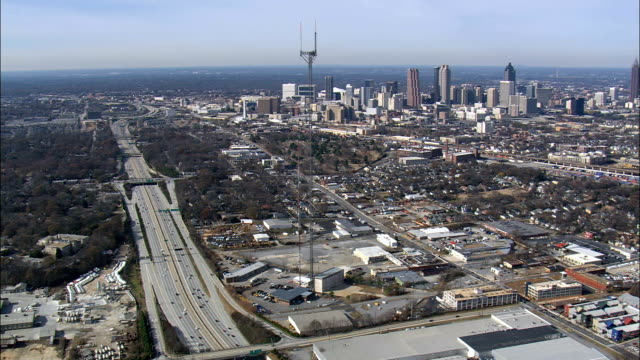 Approaching Atlanta From the South  - Aerial View - Georgia,  Fulton County,  United States