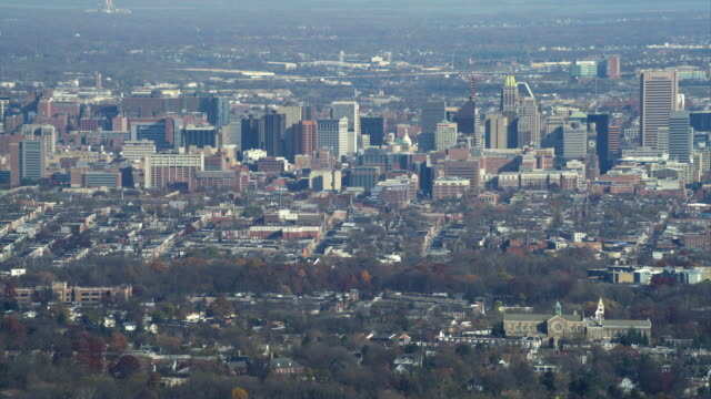 Approaching downtown Baltimore, Maryland. Shot in November 2011.