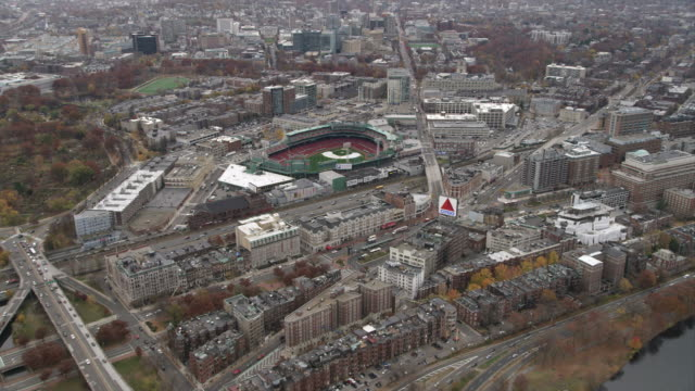approaching fenway park, boston. shot in november 2011. - artbeats stock videos & royalty-free footage