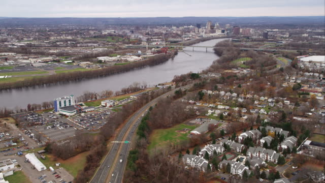 Approaching Hartford, Connecticut. Shot in November 2011.