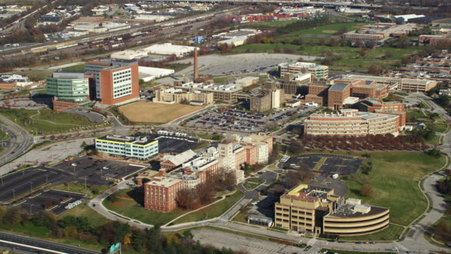 approaching johns hopkins bayview medical center in baltimore, maryland. shot in november 2011. - artbeats stock videos & royalty-free footage