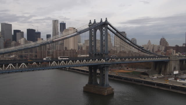 Approaching Manhattan Bridge from Brooklyn, over bridge to Manhattan side. Shot in 2011.