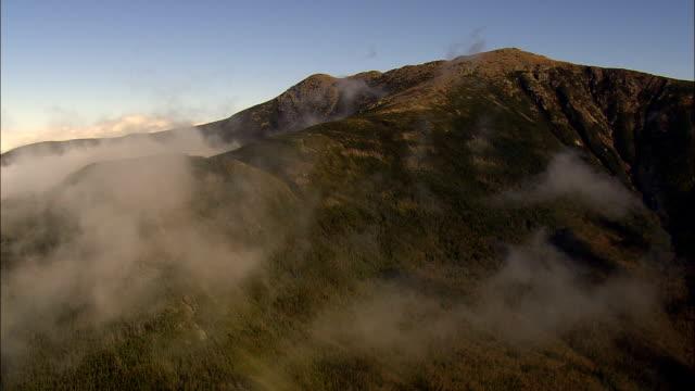 Närmar sig Mount Lafayette - Flygfoto - New Hampshire, Grafton County, USA