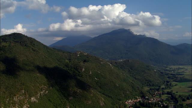 Approaching the High Pyrenees Over Galie  - Aerial View - Midi-Pyrénées, Hautes-Pyrénées, Arrondissement de Bagnères-de-Bigorre, France