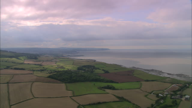 approaching the quantocks - somerset england stock videos & royalty-free footage