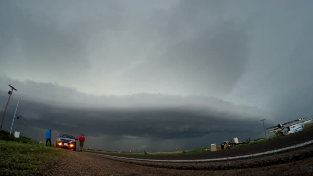 Approaching Thunderstorm Shelf Cloud - Timelapse Sequence