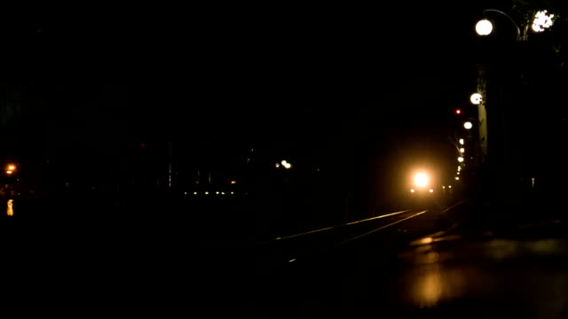 approaching train at night - steam stock videos & royalty-free footage