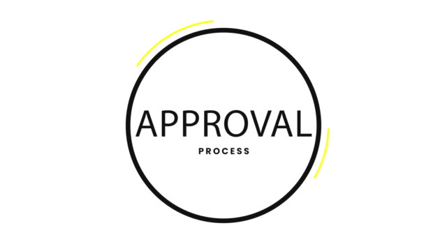 approval process minimal 4k project management section strategy infographic presentation opener (loopable) - recruitment stock videos & royalty-free footage