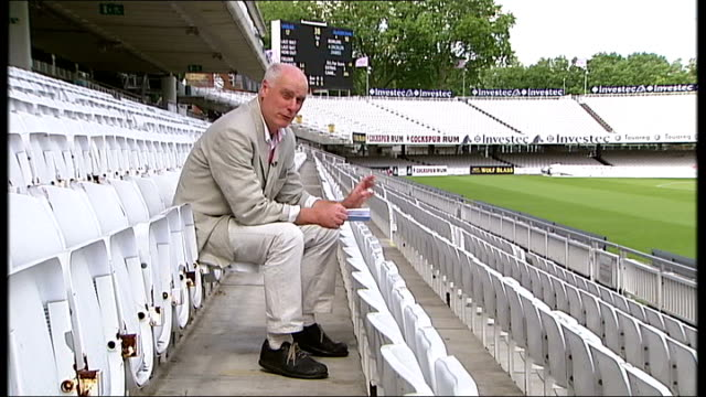 mcc approves kevin pietersen's 'switch hitting' technique london lords cricket ground old father time weather vane match play during cricket match... - lords cricket ground stock videos and b-roll footage