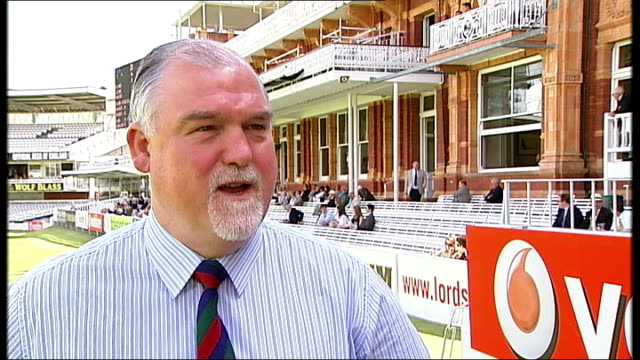 mcc approves kevin pietersen's 'switch hitting' technique london lords cricket ground mike gatting interview sot - channel 4 news stock videos & royalty-free footage