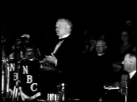 stockvideo's en b-roll-footage met april 10, 1935 herbert hoover giving speech about importance of salvation army mentioning al smith / new york, new york, united states - 1935