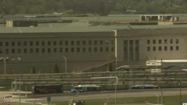 april 16, 2008 perimeter of pentagon / arlington, virginia, united states - 米国国防総省点の映像素材/bロール