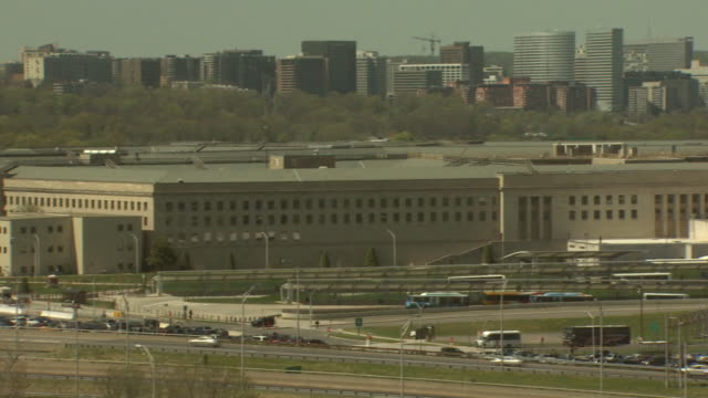april 16 2008 pan perimeter of pentagon / arlington virginia united states - department of defense stock videos and b-roll footage