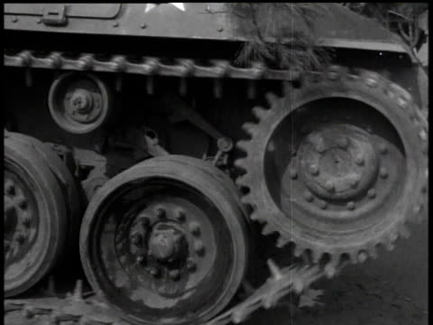 april 17, 1951 the wheels of a passing tank / korea - 1951点の映像素材/bロール