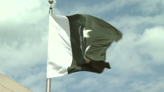 April 22 2010 CU A Pakistan flag flying / Washington DC United States