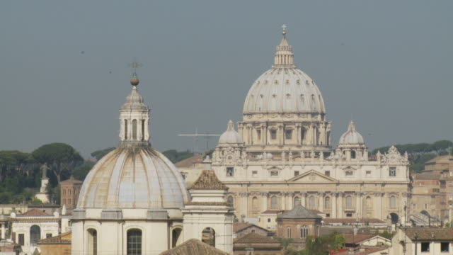 april 24, 2006 montage the dome of st. peter's basilica / rome, italy - fairground stall stock videos & royalty-free footage