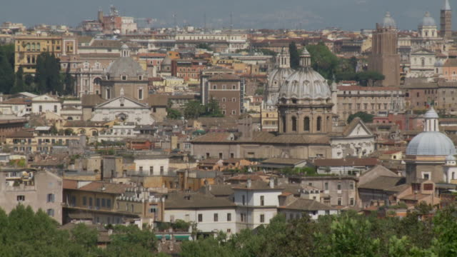 april 24, 2006 skyline and landmarks including the dome of st. peter's basilica / vatican city, rome, italy - fairground stall stock videos & royalty-free footage