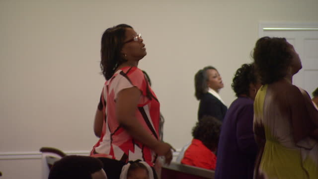 april 24 2010 ms women singing in church during service / mississippi united states - congregation stock videos and b-roll footage