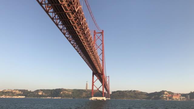 4 月 25 日リスボンのブリッジ - 4月25日橋点の映像素材/bロール
