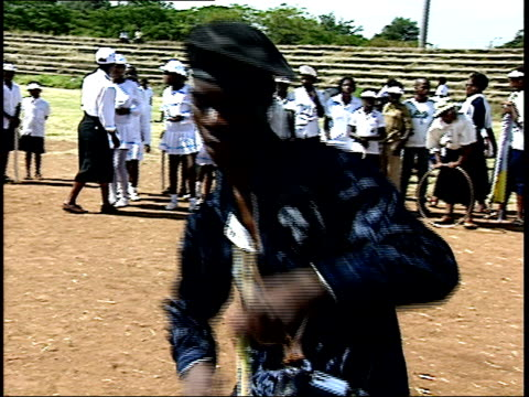 april 27 1994 ts drummers perform during the first allrace election / johannesburg gauteng south africa - anno 1994 video stock e b–roll
