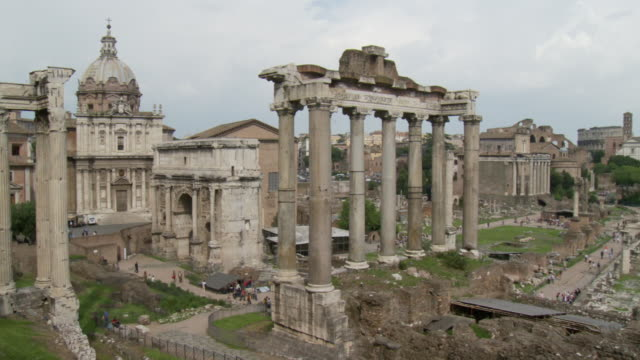 april 27, 2006 forum ruins / rome, italy - ancient rome stock videos & royalty-free footage