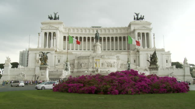 april 27 2006 montage piazza venezia vittoriano flying national flags / rome italy - piazza venezia stock videos and b-roll footage