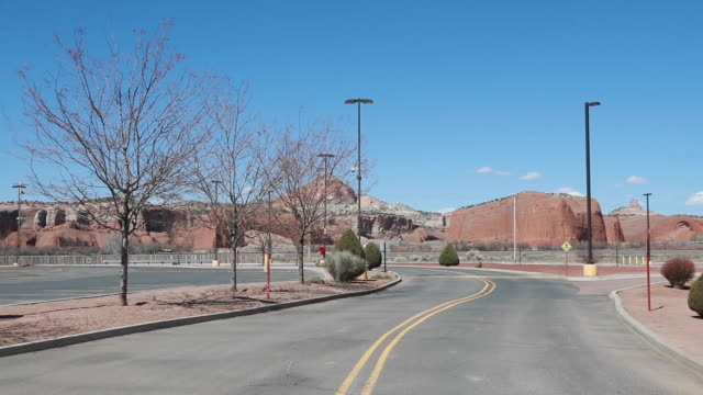 the entrance to the fire rock navajo casino is closed during the covid19/coronavirus emergency in gallup new mexico - navajo culture stock videos & royalty-free footage
