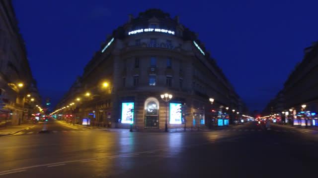 vidéos et rushes de april 30 2020 in paris france place de l'opera at the crossroads of rue du 4 septembre avenue de l'opera and rue de la paix 75002 paris a thursday... - place