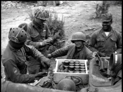 april 7, 1951 montage soldiers preparing hand grenades / korea - 1951 stock videos & royalty-free footage
