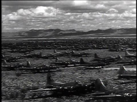 april 8, 1946 montage aircraft graveyard / kingman, arizona, united states - kingman arizona stock videos & royalty-free footage