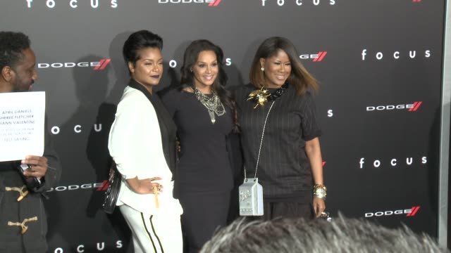 "stockvideo's en b-roll-footage met april daniels, sheree fletcher, and diann valentine at the ""focus"" los angeles premiere at tcl chinese theatre on february 24, 2015 in hollywood,... - tcl chinese theatre"
