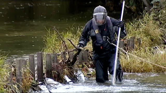 mark bridger appears in court charged with murder machynlleth members of search and rescue team on bank of river dyfi beside bridge rescuers... - aberystwyth stock videos & royalty-free footage