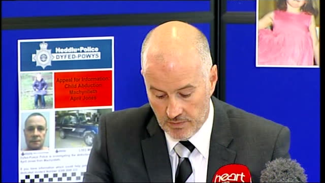 april jones abduction: police search continues; aberystwyth: int detective superintendent reg bevan press conference sot - aberystwyth stock videos & royalty-free footage