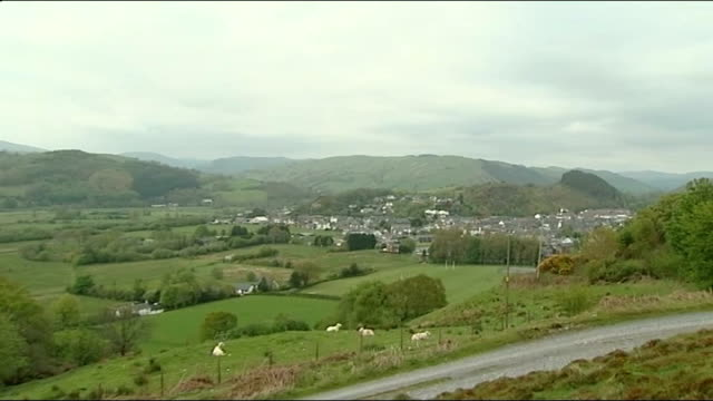 machynlleth community reaction wales powys machynlleth ext gvs town of machynlleth seen from above - powys stock videos & royalty-free footage