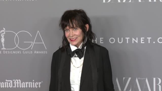 stockvideo's en b-roll-footage met april napier at the 20th costume designers guild awards at the beverly hilton hotel on february 20 2018 in beverly hills california - beverly hilton hotel