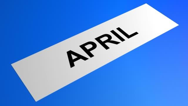 ローリングブルーペーパーに書く4月 - digital animation点の映像素材/bロール