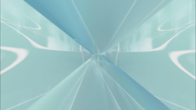 aqua and white kaleidoscopic effect - artbeats stock videos & royalty-free footage