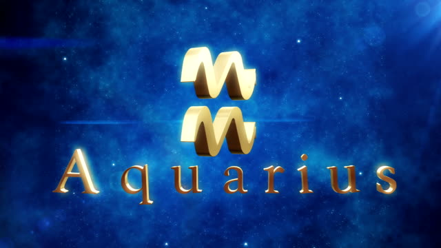 aquarius (zodiac air sign) | loopable - cancer astrology sign stock videos and b-roll footage
