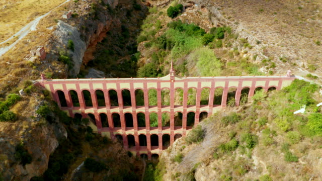 aqueduct eagle, nerja, andalusia, spain - bewässerungsanlage stock-videos und b-roll-filmmaterial