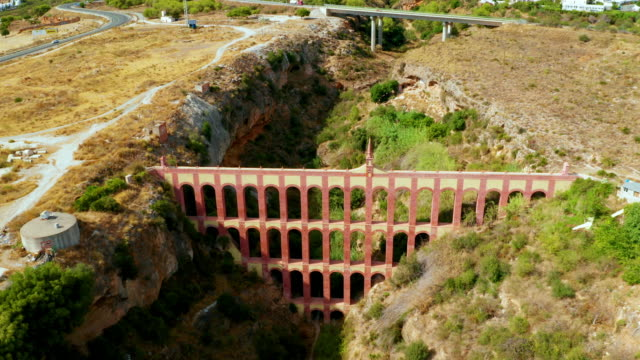 aqueduct eagle, nerja, andalusia, spain - number 4 stock videos & royalty-free footage
