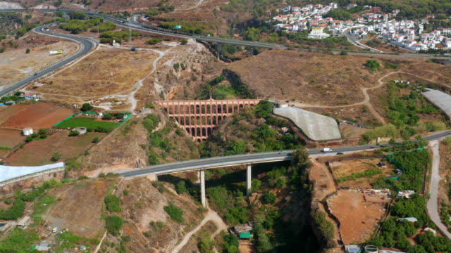 stockvideo's en b-roll-footage met aqueduct eagle & other bridges, nerja, andalusia, spain - overige