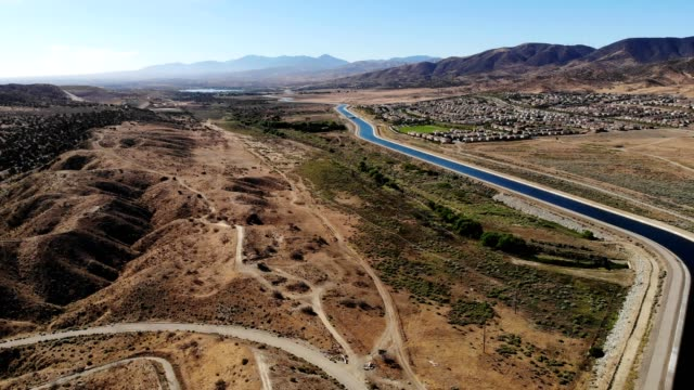aqueduct in palmdale, ca - palmdale stock videos and b-roll footage