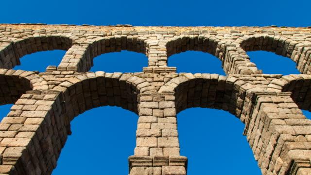 aqueduct of segovia - segovia stock videos & royalty-free footage