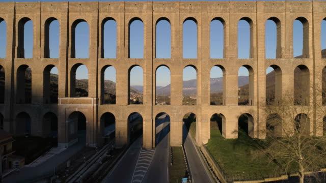 aqueduct of vanvitelli - 18th century stock videos and b-roll footage